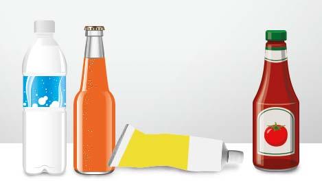 Illustration: Getränke und Senf