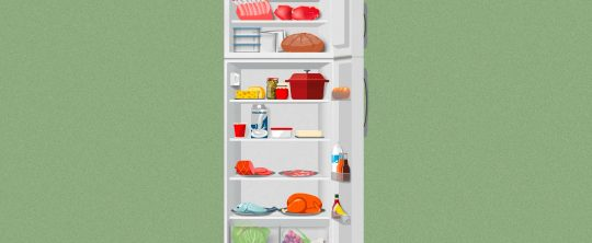 Illustration Kühlschrank