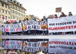 Jugendliche an der Klimademo